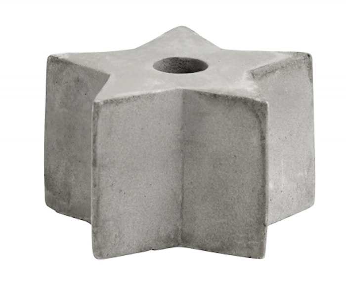 Ljusstake Cement Star Small