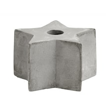 Cement candle holder, star, S