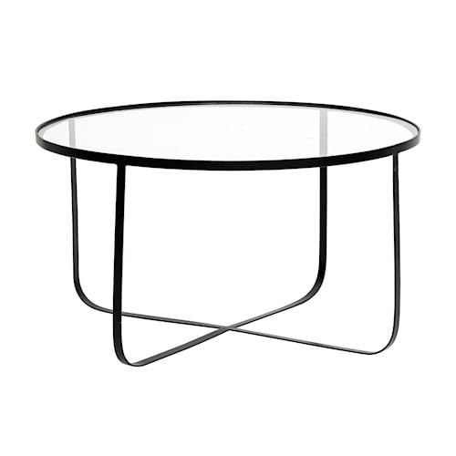 Harper Sofabord Glass/Svart 80cm