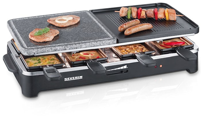Partygrill Raclette & Grillsten 8 pannor