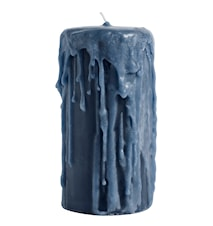 Blokklys Ø 8x15cm - Blå