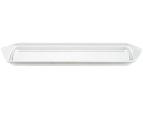 Glassfat/kakefat Hvit 36 cm