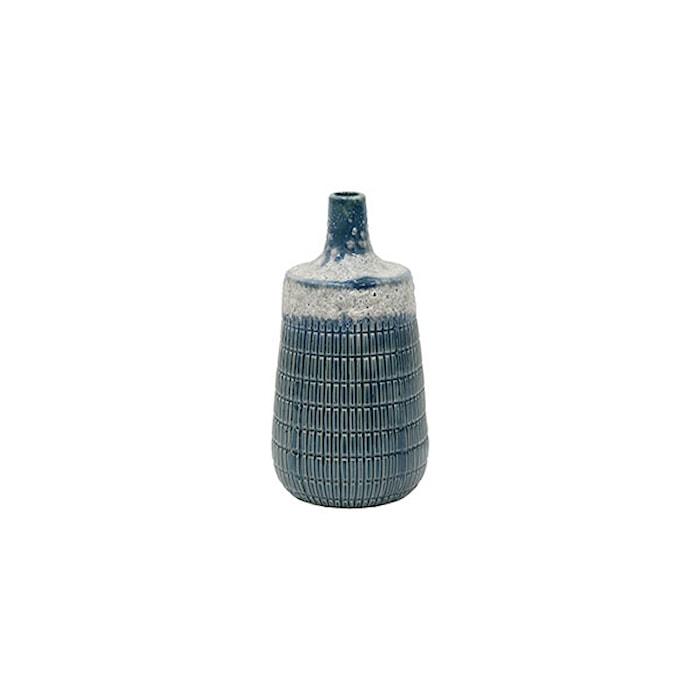 Blomvas Medium Keramik Blå 20,5cm