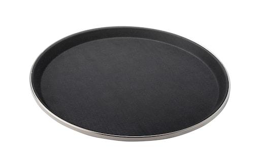 Serveringsbricka rund svart antislip 35,5 cm