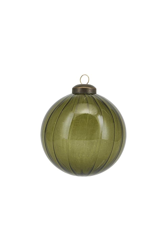 Ornament Cleary Ø 8 cm Grön