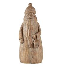 Figur - Julemand - Polystone - Brun - H 24,5cm - L 10,0cm - B 9,5cm