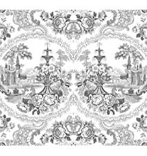 Delft baroque tapet – Svart