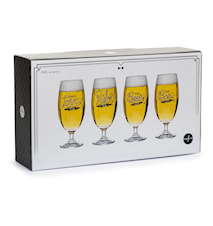 Club ølglass, 4-pakk