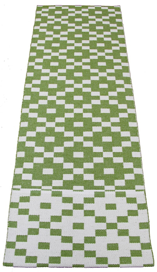 Kelim 70x160 matta - Green white