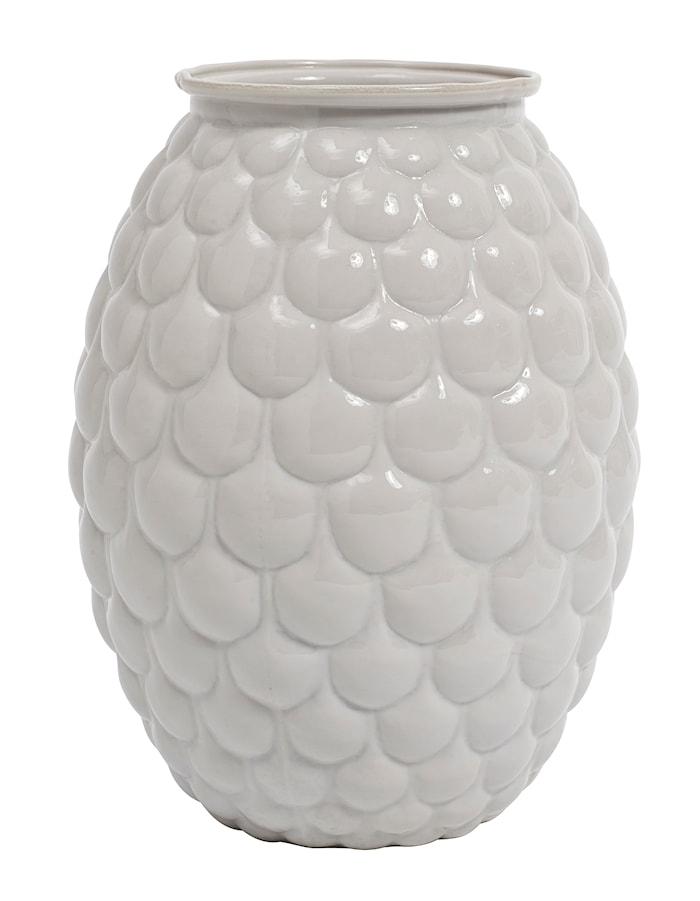 Opal vase bær 20 cm - hvit
