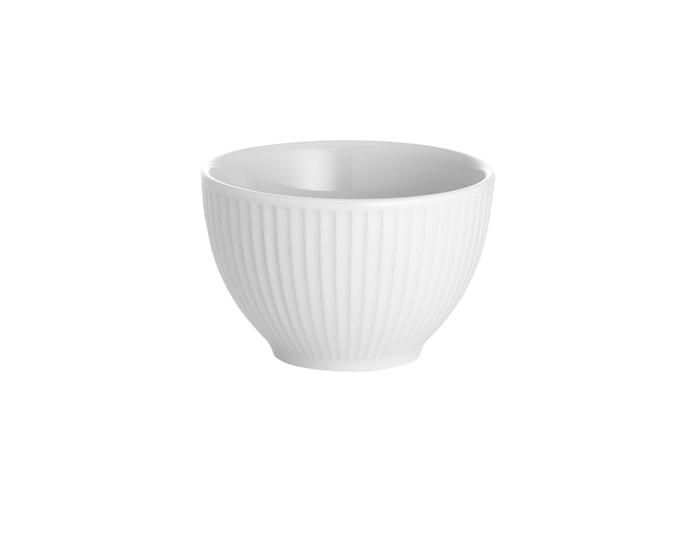 Plissé sukkerskål hvit, 18 cl Ø 9 cm
