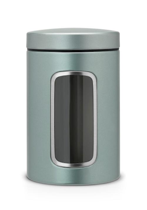 Förvaringsburk med fönster 1.4 Ltr Metallic Mint