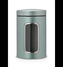 Oppbevaringsboks med vindu 1.4 Ltr Metallic Mint