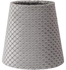 Queen Lampeskjerm Rute Grå 10 cm