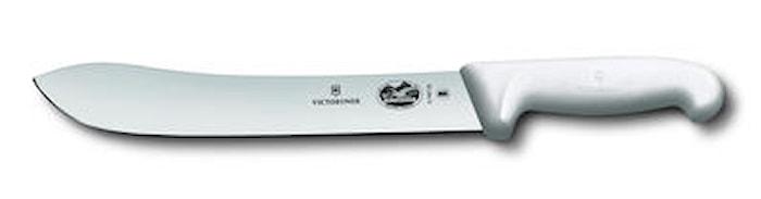 Slaktkniv 25 cm bred spets Fibrox, vit