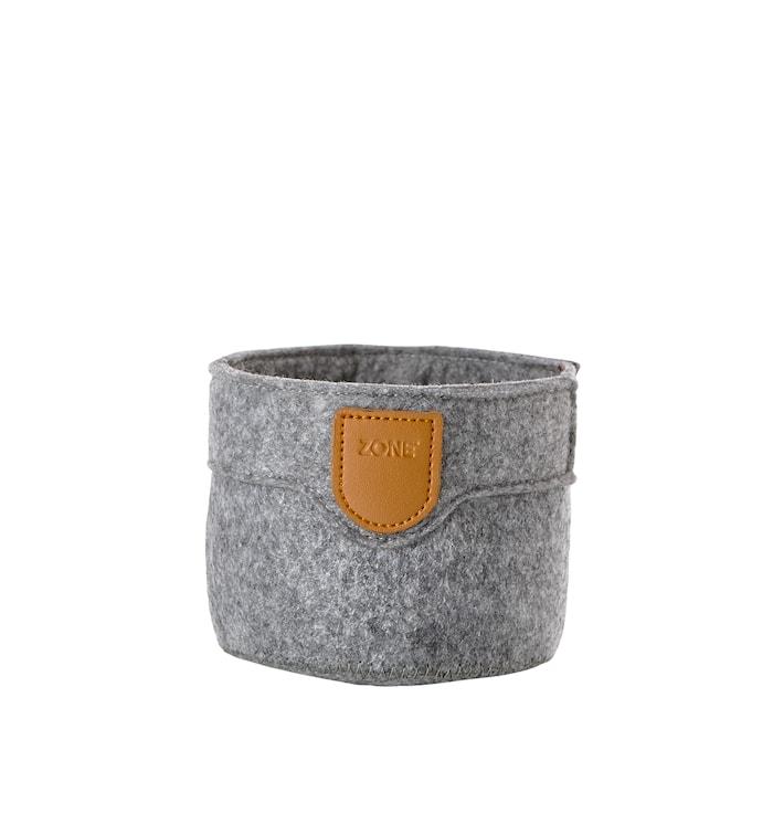 Korg Ljusgrå 10x8 cm