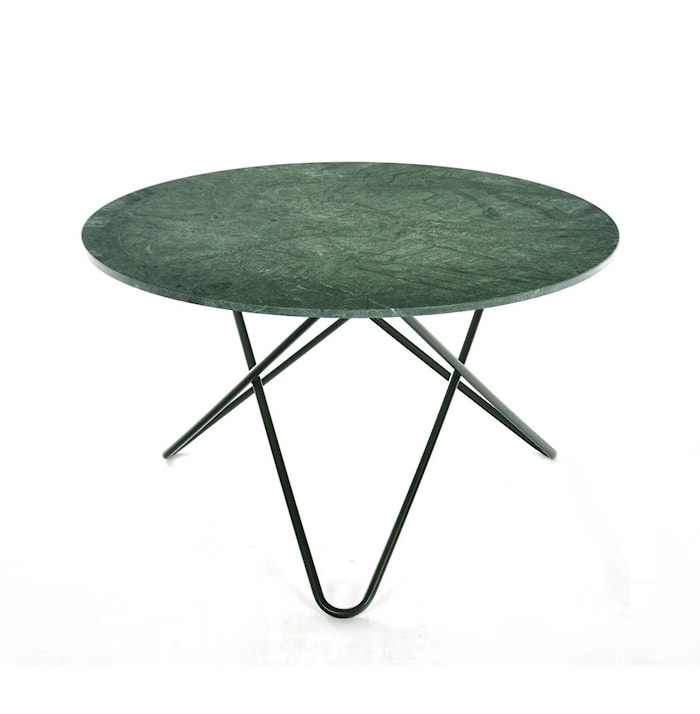 Big O table spisebord - Green indio/black steel