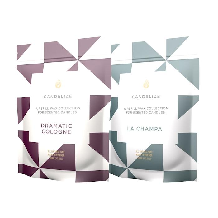 Doftljus Refill La Champa/ Dramatic Cologne 2-Pack
