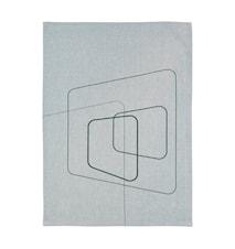 Squares Keittiöpyyhe Puuvilla 70x50 - PetrooPellava vihreä