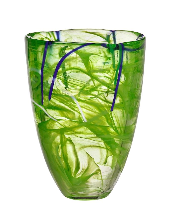 Contrast Lime Vase 20 cm