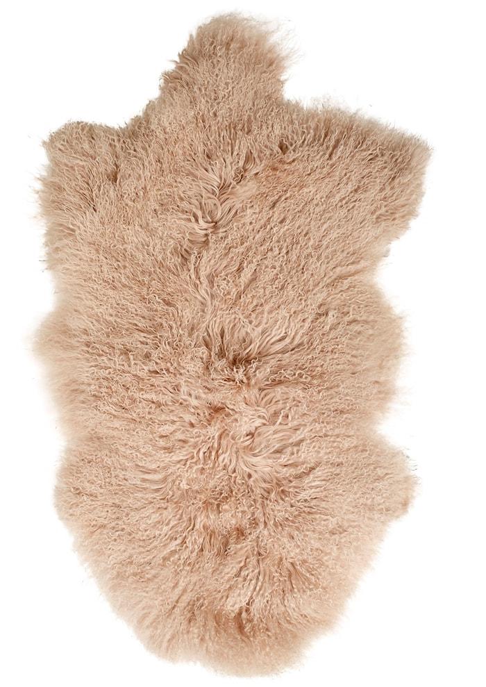 Lamb fur matta - Soft pink