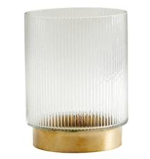 Lysholder RING lines Ø 15 cm - Messing
