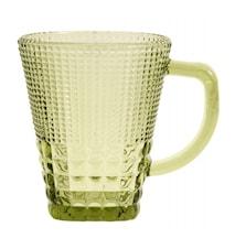 Glas med handtag Grönt 27cl
