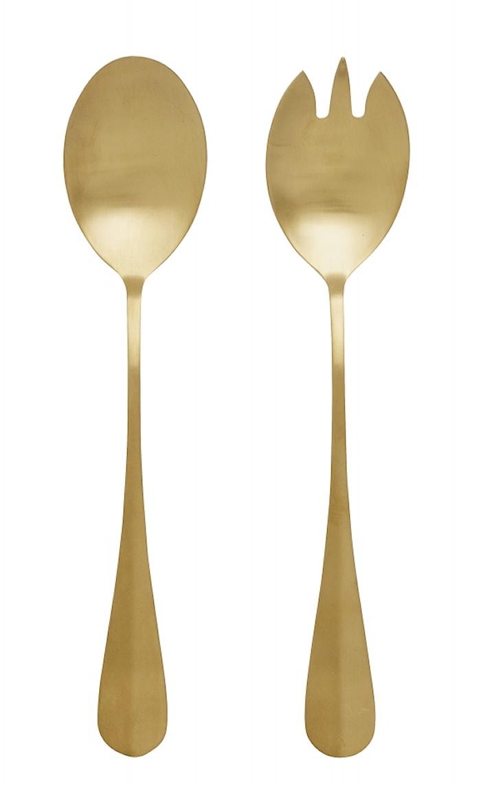 Salatbestikk 2 deler Gull