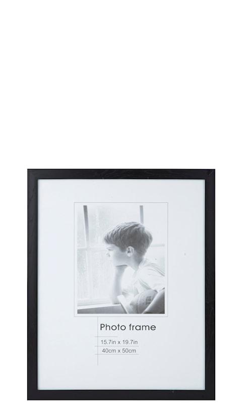 Tavelram Svart/Glas 50x40 cm