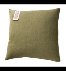 Lovely linen kuddfodral Jeep green