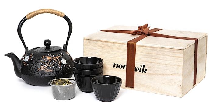 Japansk Tekanna Gåvopaket + 4 koppar