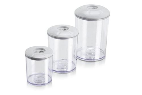 Runde opbevaringglas - Sæt af 3 stk