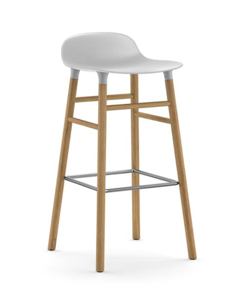 Form Barstol Hvit/Eik 75 cm