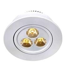 Vega taglampe 3x1W 3-sæt hvid