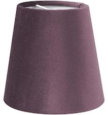 Queen Lampskärm Sammet Lila 10cm