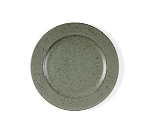 Desserttallrik grön stengods