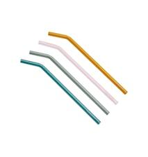 Artes.H&C.Bev. Glass straw set 4pcs.