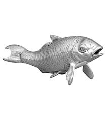 Fisk i försilvrad mässing