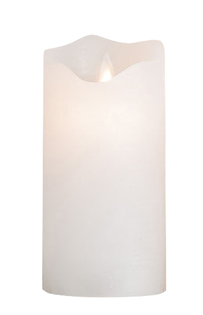 Ledljus Vit med Timer 8x16,7cm