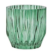 Blomkruka Glas Grön D 13,0cm H 13,0cm