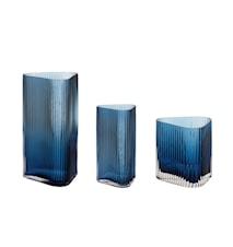 Vaser Glas Blå 3 st