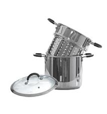 Gryta med pastainsats Silikonklädda handtag 6 liter