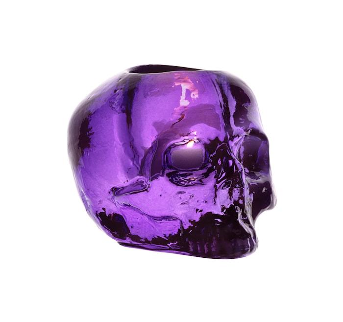 Still Life Skull Lila Ljuslykta Ø11,5 cm