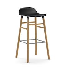 Form Barstol Grå/Eg 75 cm