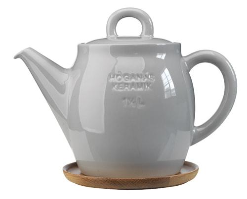 Höganäs Keramik Tekande + træfad 1,5L grå blank