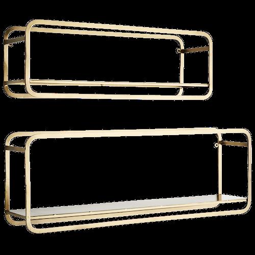 Hanging iron shelves