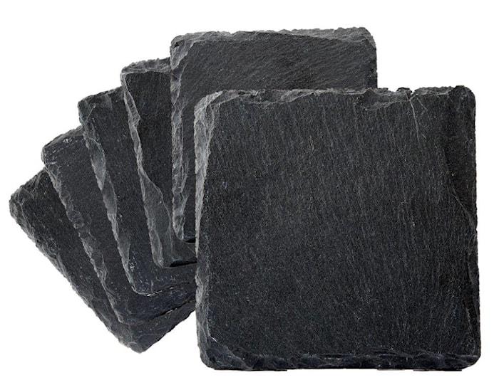 Lasinalunen liuskekiveä 6 pack 10 x 10 cm