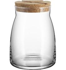 Krukke med korklokk 1,7 liter Gjennomsiktig