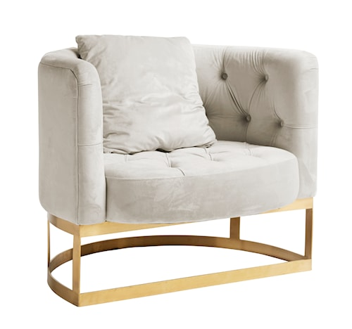 Lounge chair fåtölj - Cream white