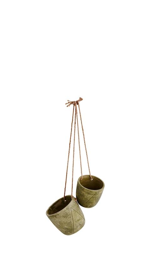 Blomkruka hängande Ø 17 cm - Grön